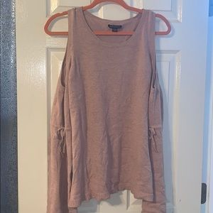 Dusty Pink, Bell Sleeve Cold Should Sweater